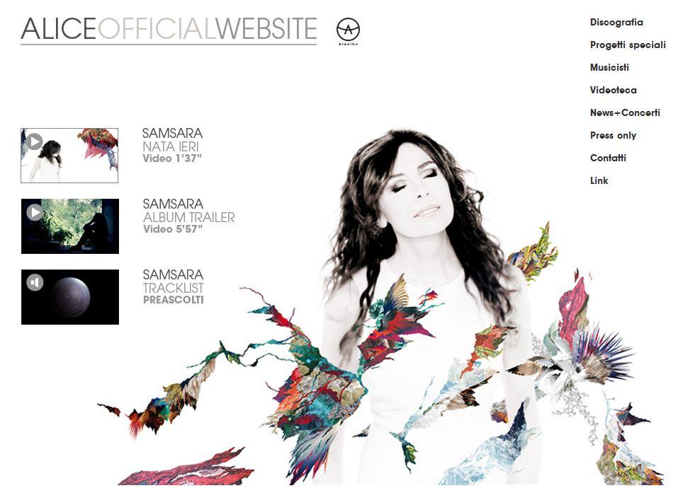 Il sito ufficiale di Alice